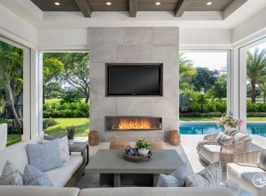 Gracious indoor/outdoor living.