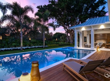 Enjoy dusk from your private oasis.