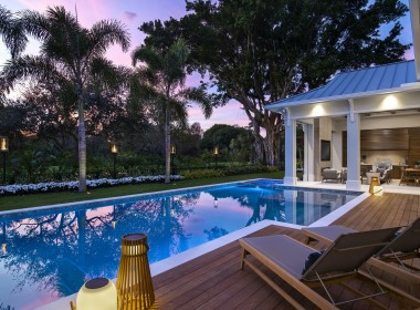 Enjoy dusk from your private oasis